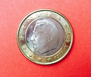 1 Euro Kursmünze Aus Kms Belgien 1999 Albert Muenzhandel Kissercom