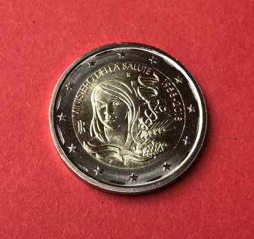 2 Euro Gedenkmünze Italien 2018 Gesundheitsministerium ...