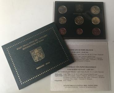Euromünzen Vatikan Im Original Kms Vatikan 2018 Papst Franziskus