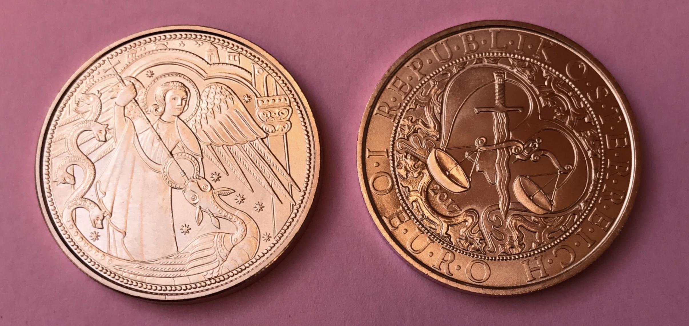 10 Euro Kupfer Oesterreich 2017 Schutzengel Michael Muenzhandel