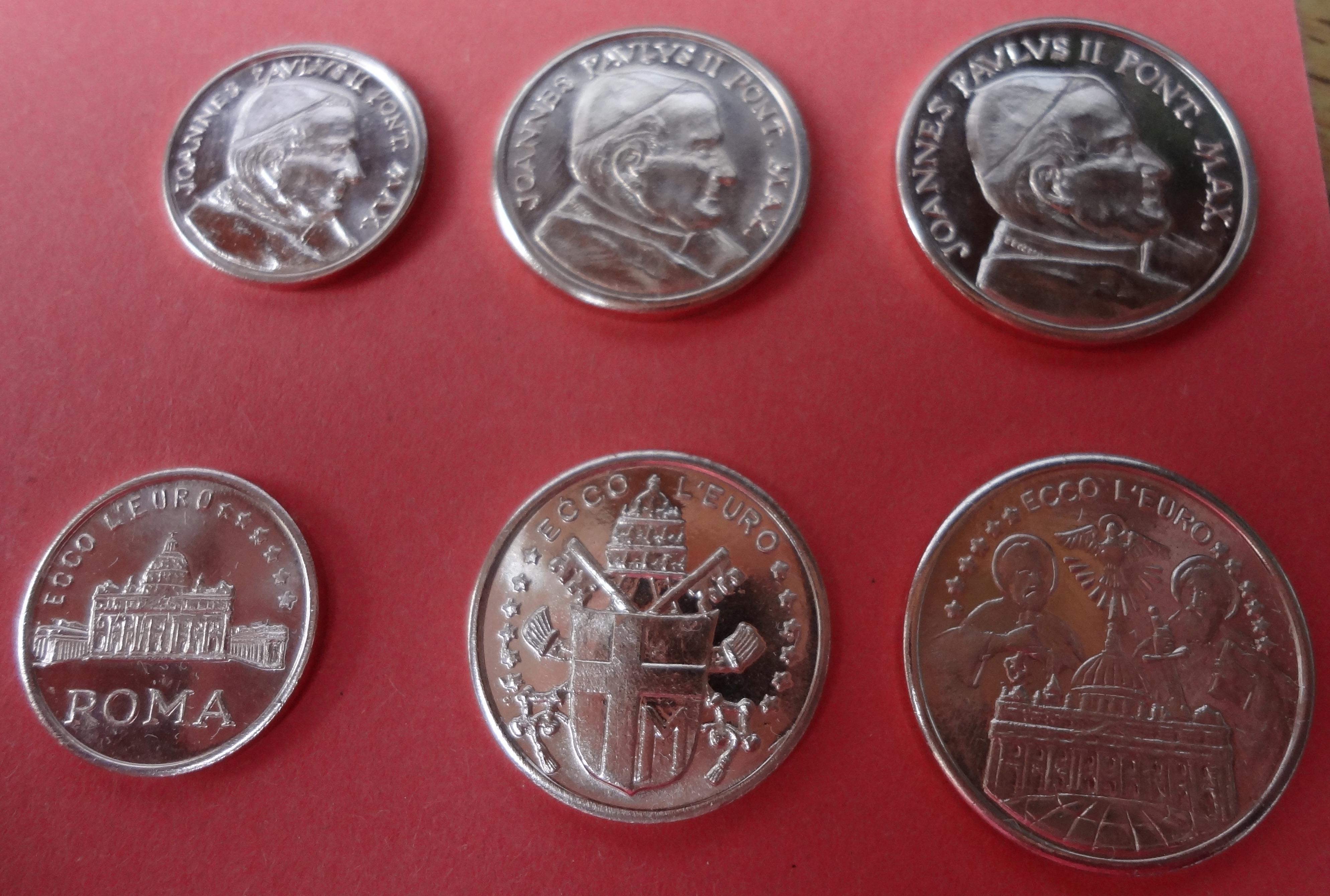 Vatikan Euro Medaillen 125 Cent Papst Johannes Paul Ii