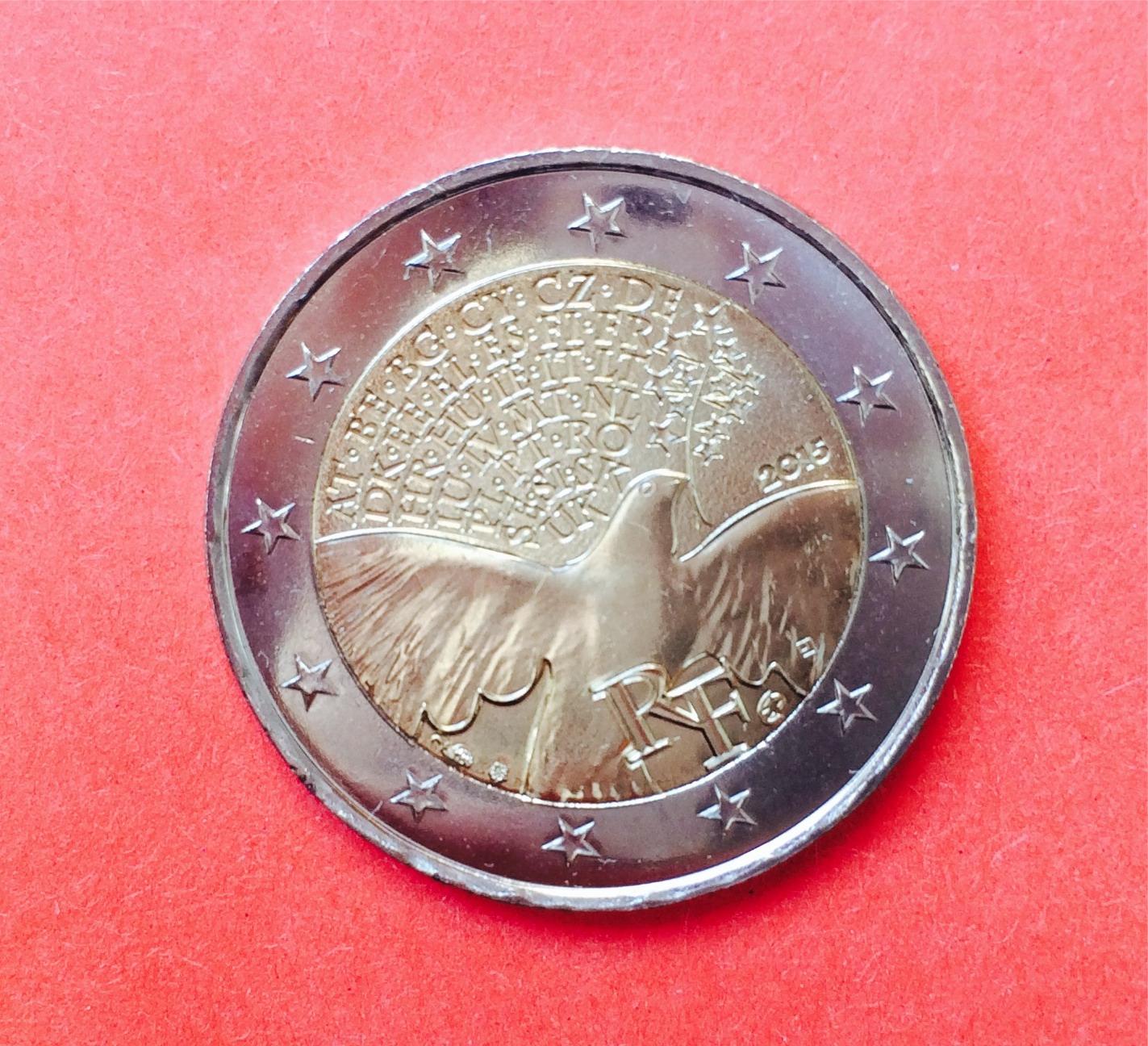 2 Euro Frankreich 2015 70 Jahre Frieden Muenzhandel Kissercom