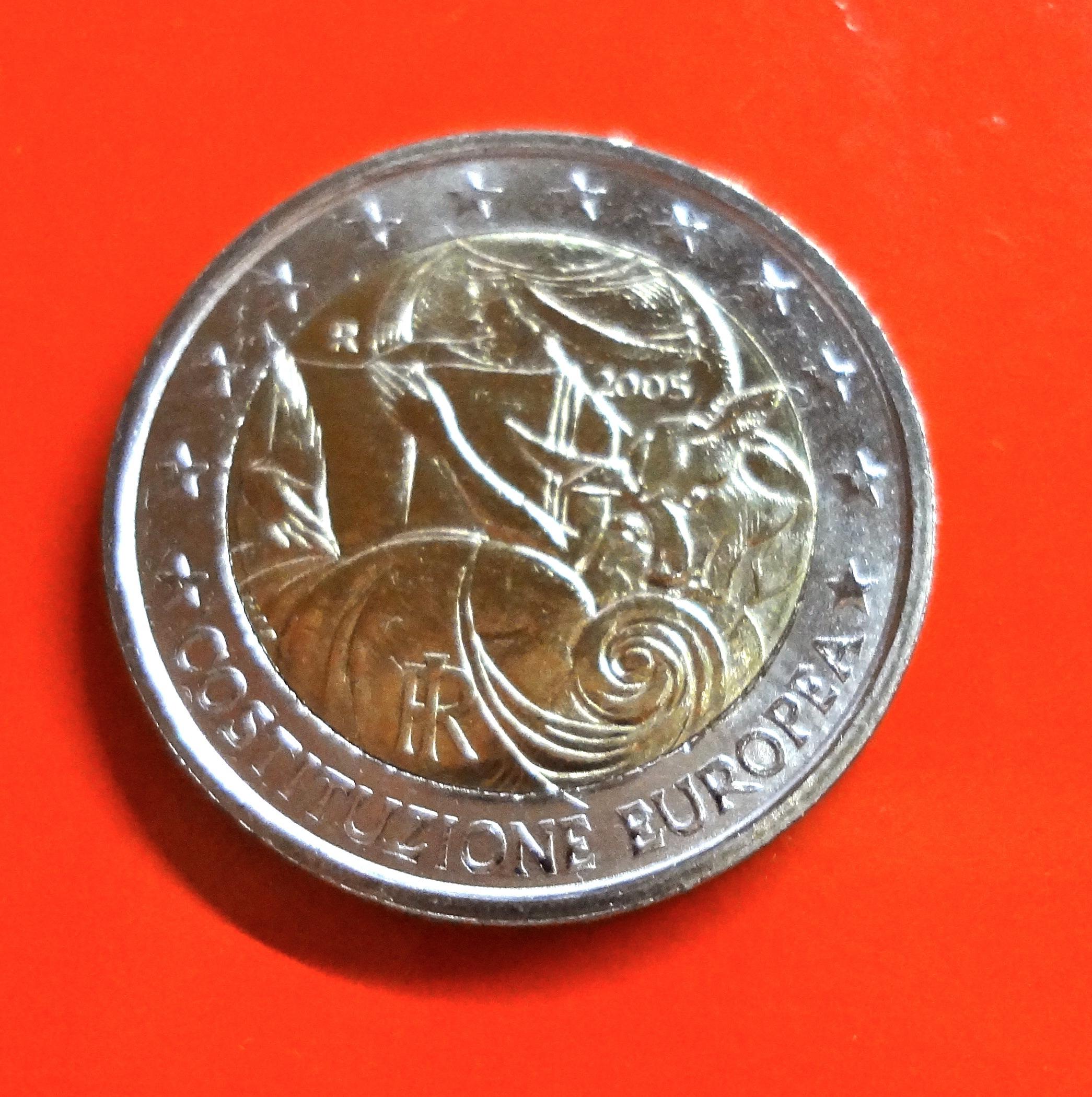 2 Euro Gedenkmünze Italien 2005 Eu Konstituzion Muenzhandel Kissercom
