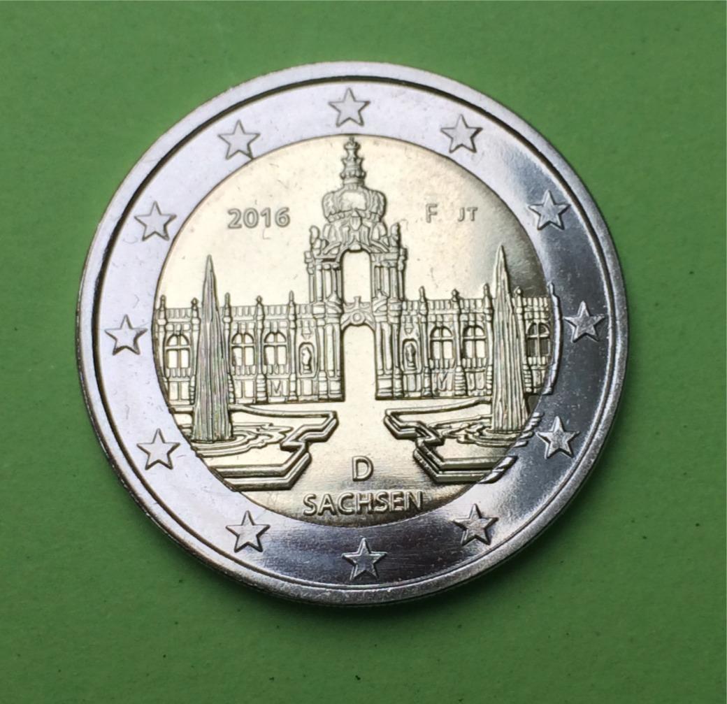 2 Euro Gedenkmünze Deutschland 2016 Sachsen Zwinger Muenzhandel