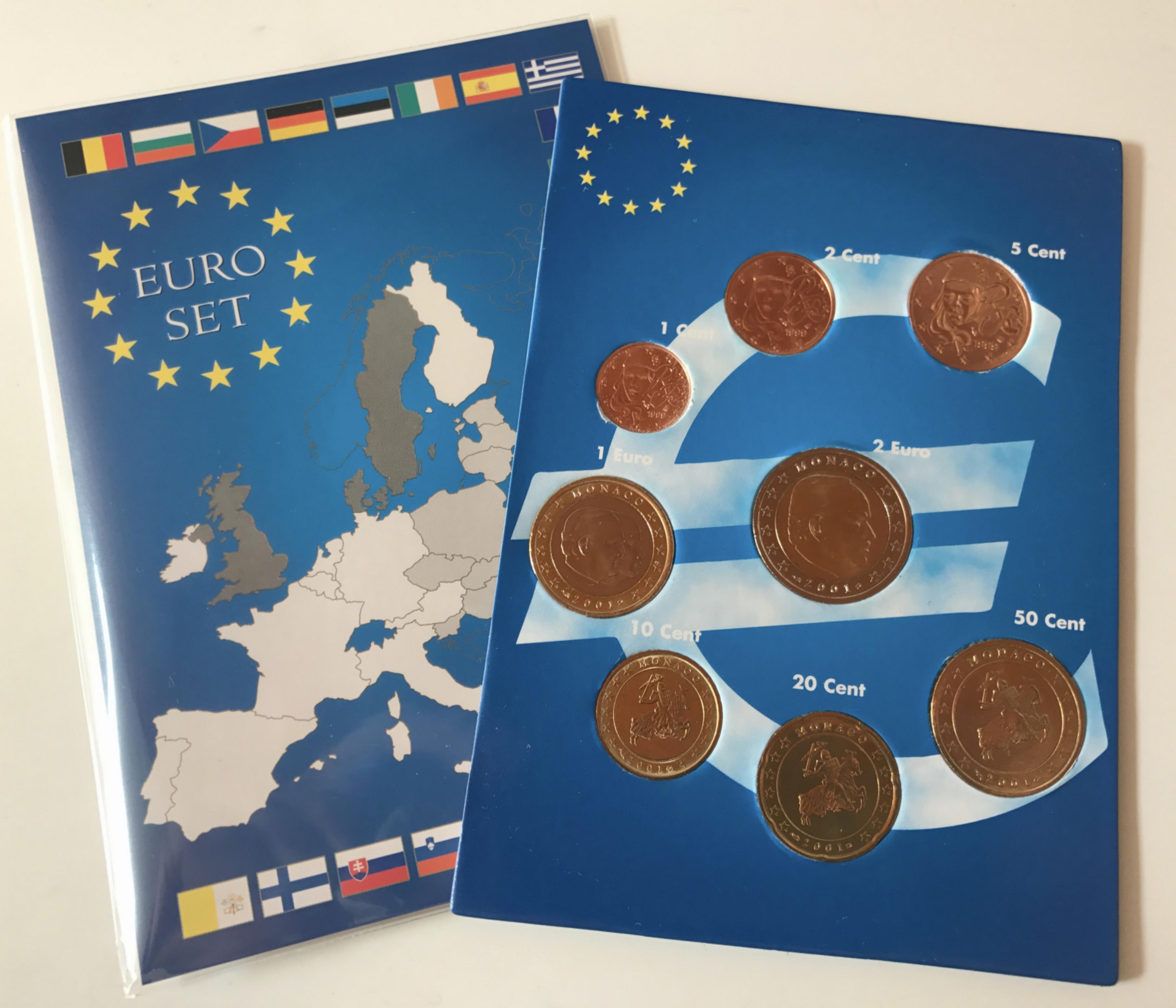 Euro Kms Monaco 2001 5 Münzen Muenzhandel Kissercom